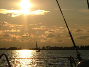 Heegermeer ondergaande zon