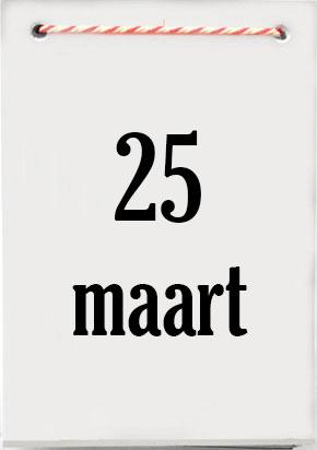 25 maart jarig